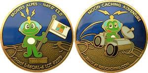 Moon Caching Adventure Geocoin