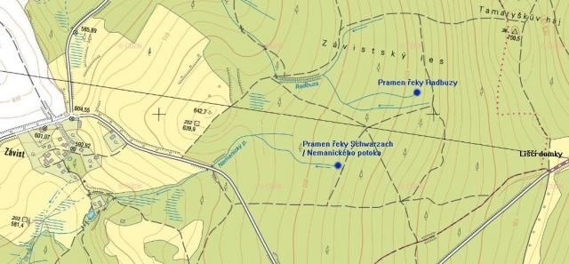 Okolí pramenů Radbuzy a Nemanického potoka