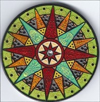 Compass Rose Geocoin 2012 Limited - Congo - Front
