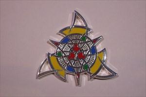 The Celtic Triangle Geocoin - Poliertes Silber