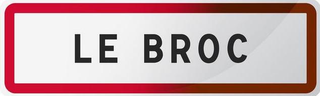 Panneau du Broc