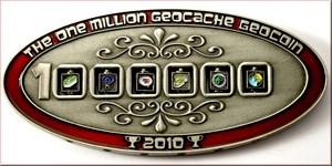 1 Million Geocache Geocoin