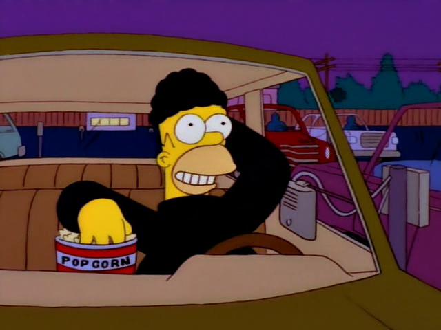 Homer im Autokino
