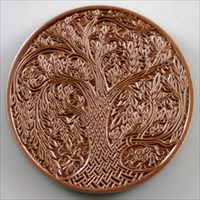 Celtic Tree of Life Geocoin - Antique Copper