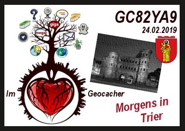Im ❤ Geocacher - Morgens in Trier