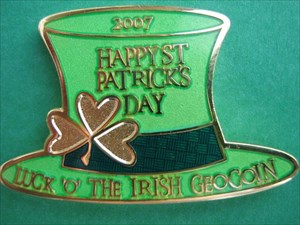 Luck 'O' The Irish coin front