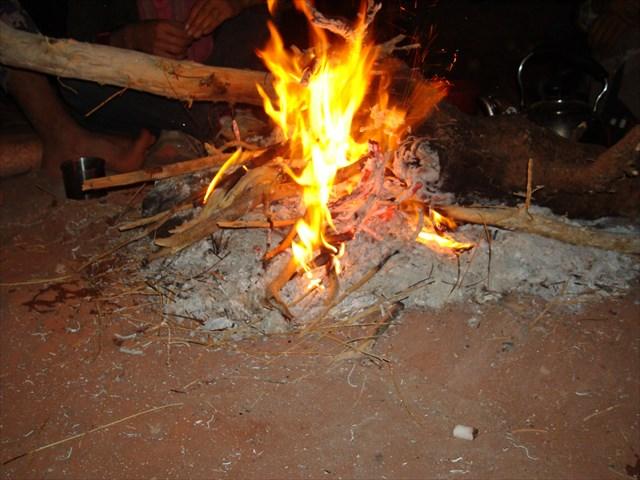 le soir, pour se réchauffer ...