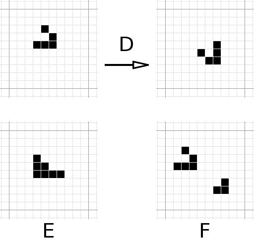 tasks D, E, and F