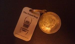 Pewter West Virginia seal keychain