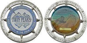 Twin Peaks Personal Geocoin