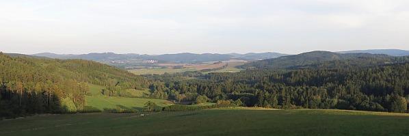 Výhled na Žihobce, září 2015