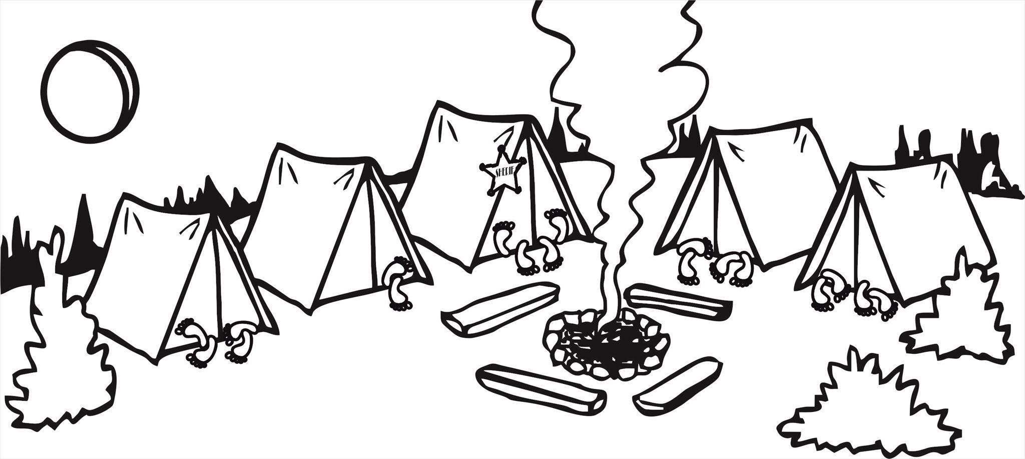 картинка про лагерь рисунок палатки съемок кино джастис
