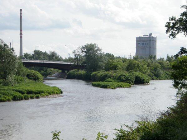 Výsledek obrázku pro soutok řeky Odry a Ostravice