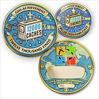 12000 Finds Geo-Achievement Geocoin