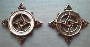 Celtic Compass in Kupfer