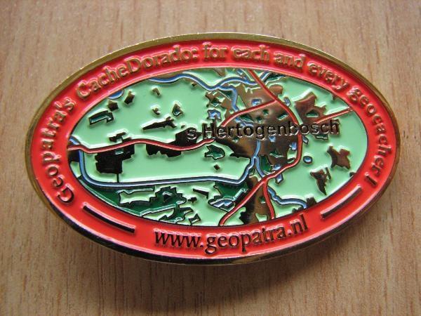 Geopatra's CacheDorado Geocoin back