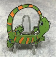 Silly Animal Geocoin - Gecko green front