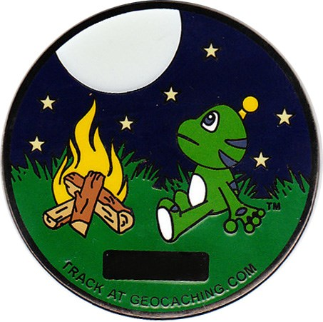 Picture: backside of the geocoin