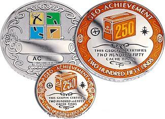 Insider's 250 Finds Geo-Achievement Geocoin