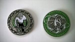 MounTenBike 15 Year Geocoin