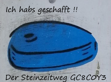 """Banner """"Der Steinzeitweg"""""""