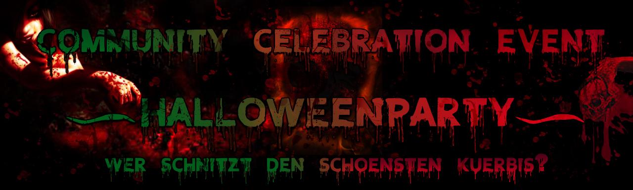 Community Celebration Event - Halloweenparty und Wer schnitzt den schoensten Kuerbis? Teil 7