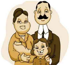 Uma família feliz !