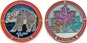 Canada Bear Geocoin
