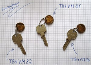 EN: All three keys | DE: Alle 3 Schlüssel