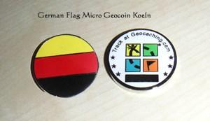 German Flag Micro Geocoin Koeln