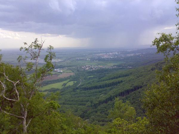 View in southwest direction, over Vysoka Pec towards Jirkov. Photo by marzcz, May 2007
