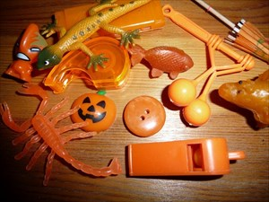 Blorenges' orange button
