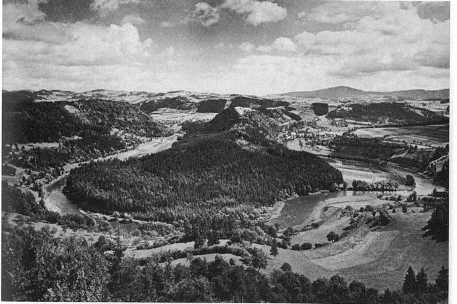 Výhled na meandr pred 80 lety