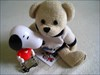 Friends forever :) Snoopy with Matyi, my cacher bear