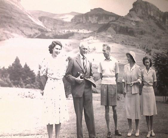 The Royal Family visit the Drakensberg.