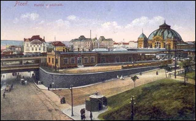 Obrázek hlavního nádraží z roku 1915