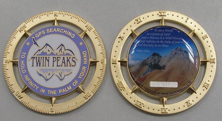 Sample geocoin - Twin Peaks