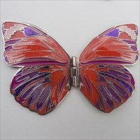 Butterfly 2010 Geocoin - Gold/Red
