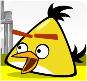 Tb66483 Angry Birds Travel Tag Yellow Bird Angry Birds