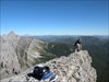 Crowsnest Mountain - Lunch spot.