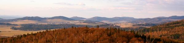 Výhled ke Korábské vrchovině
