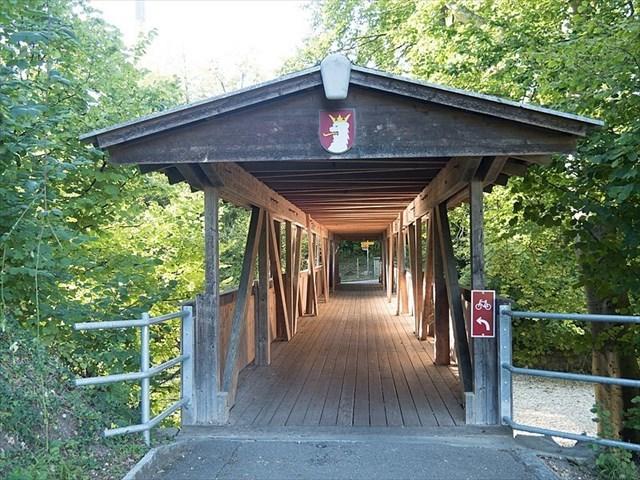 Holzbrücke über die Ergolz in Augst (BL)