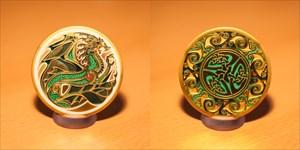 Celtic Dragon - Water Geocoin