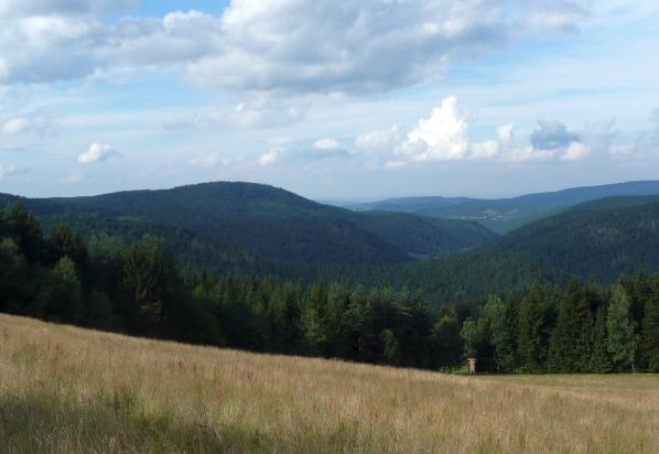 Radkovský vrch z Klostermannovy vyhlídky