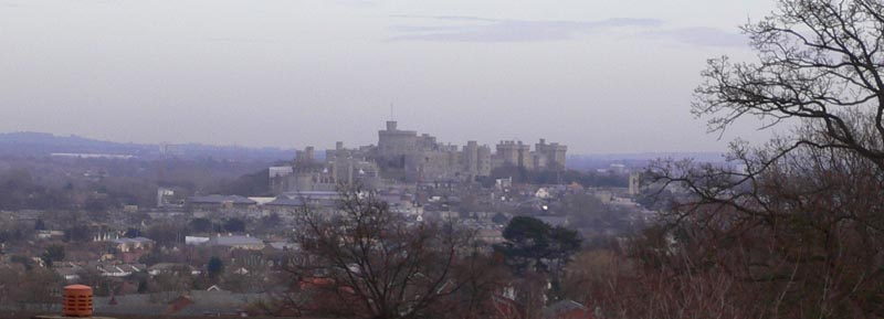 As you walk towards the cache you get great views across Windsor and the surrounding area, including this one of the castle