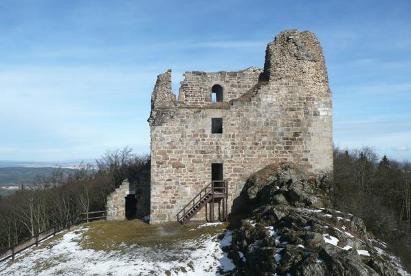 Jižní stěna a skalní výběžek