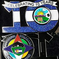GCCO 10 Year Geocoin