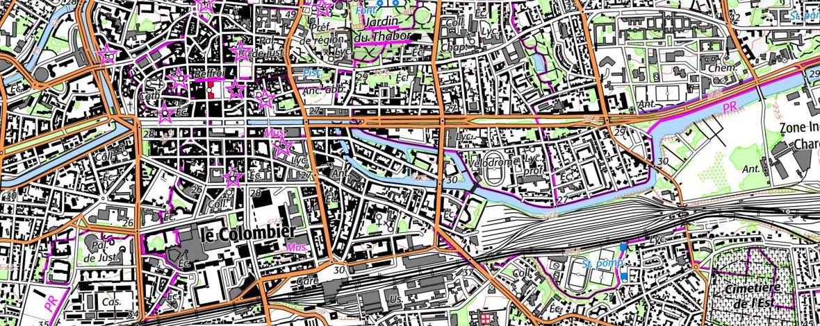 Carte topographie de 2018 (source IGN)