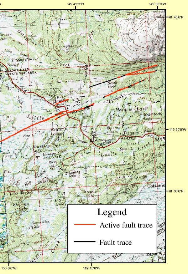 GC18FEW Castle Mountain Fault Houston Alaska Earthcache in