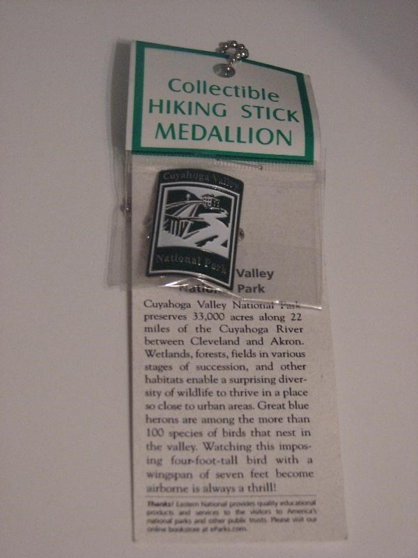 ae73b435fe7 Gallery Images related to Cuyahoga Valley National Park Hiking Stick  Medallion